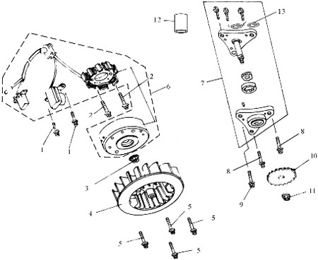 50 And 70 Atv Quad Wiring Diagram furthermore Vite Per Scooter Baotian BT49QT P 5354 Descrizione in addition Lifan 200cc Engine Wiring Diagram besides Qiye 110cc Chopper Wiring Diagram besides 1985 Yamaha Moto 4 Wiring Diagram. on 125cc pit bike parts