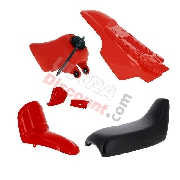 Carena completo per Yamaha PW50 (Rosso)